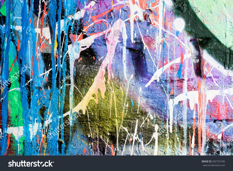 滴涂涂鸦墙-背景/素材,抽象-海洛创意(hellorf)-中国