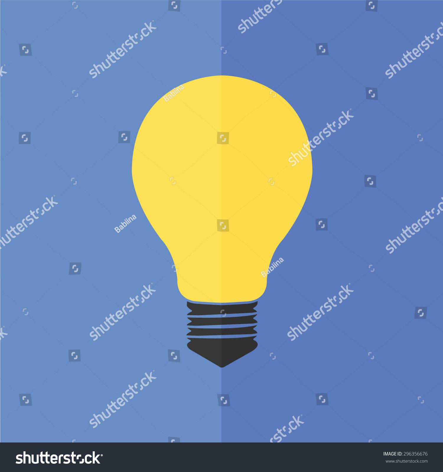 电灯泡矢量图标.平面设计