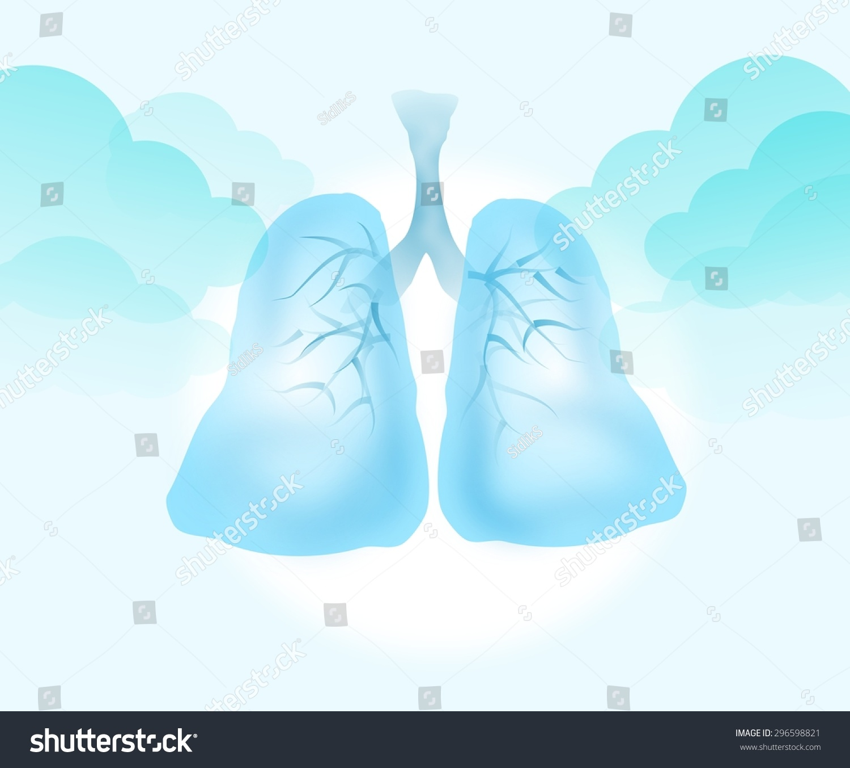 背景淺藍色透明肺圖-醫療保健-海洛創意(hellorf)