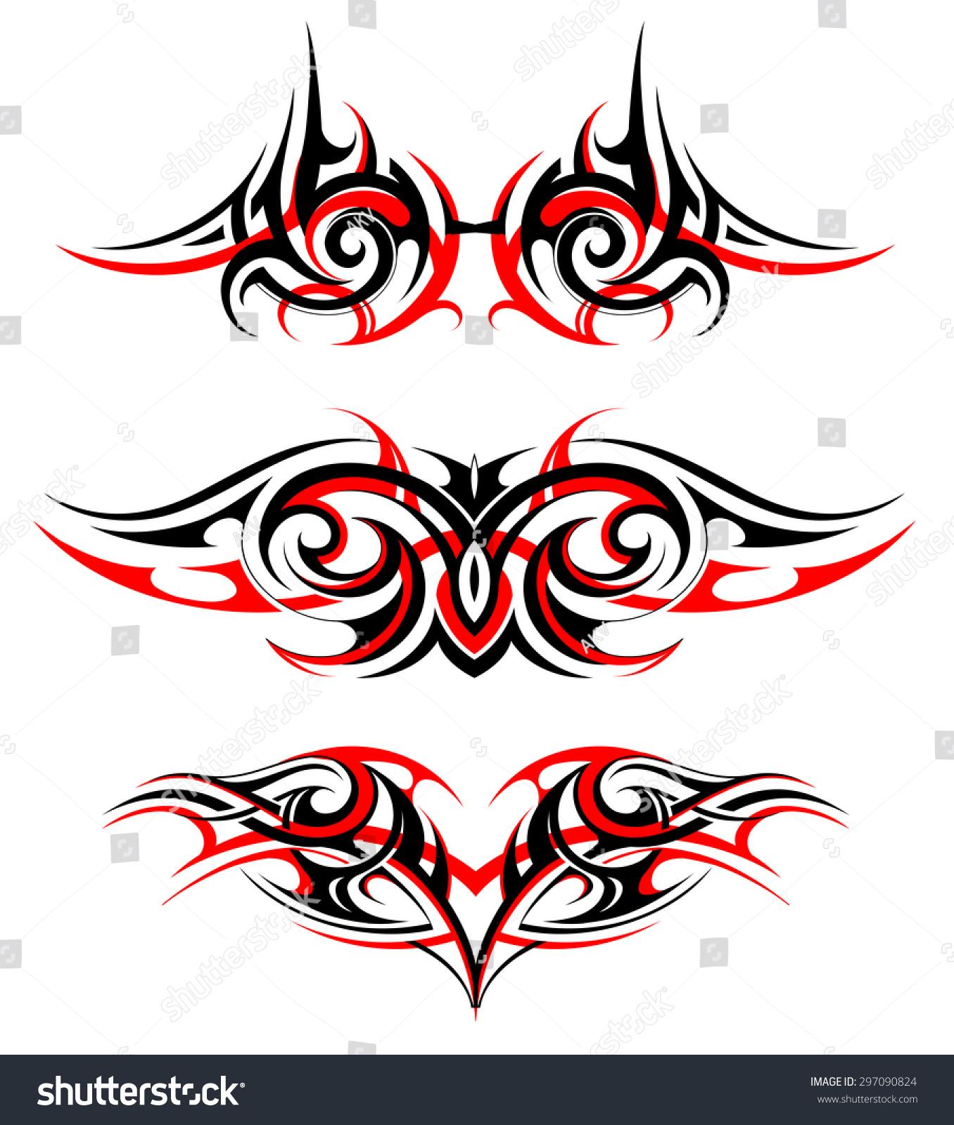 哥特式翅膀纹身套-抽象-海洛创意(hellorf)-中国独家