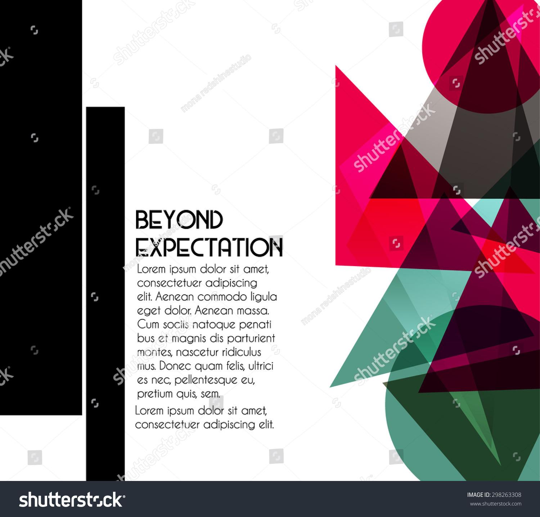 三角形和颜色形状的几何背景-其它,抽象-海洛创意()-.