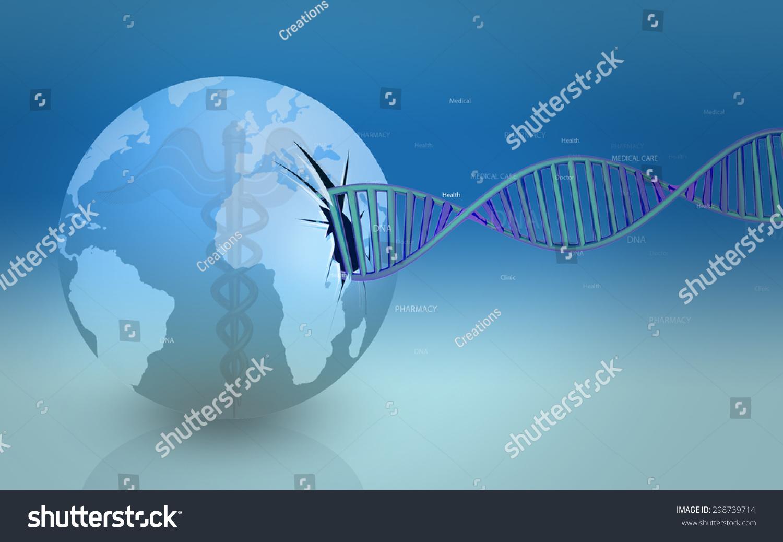 数码插图dna结构的颜色背景