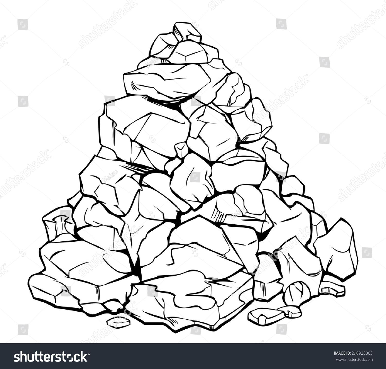 石头手绘图片简单画法