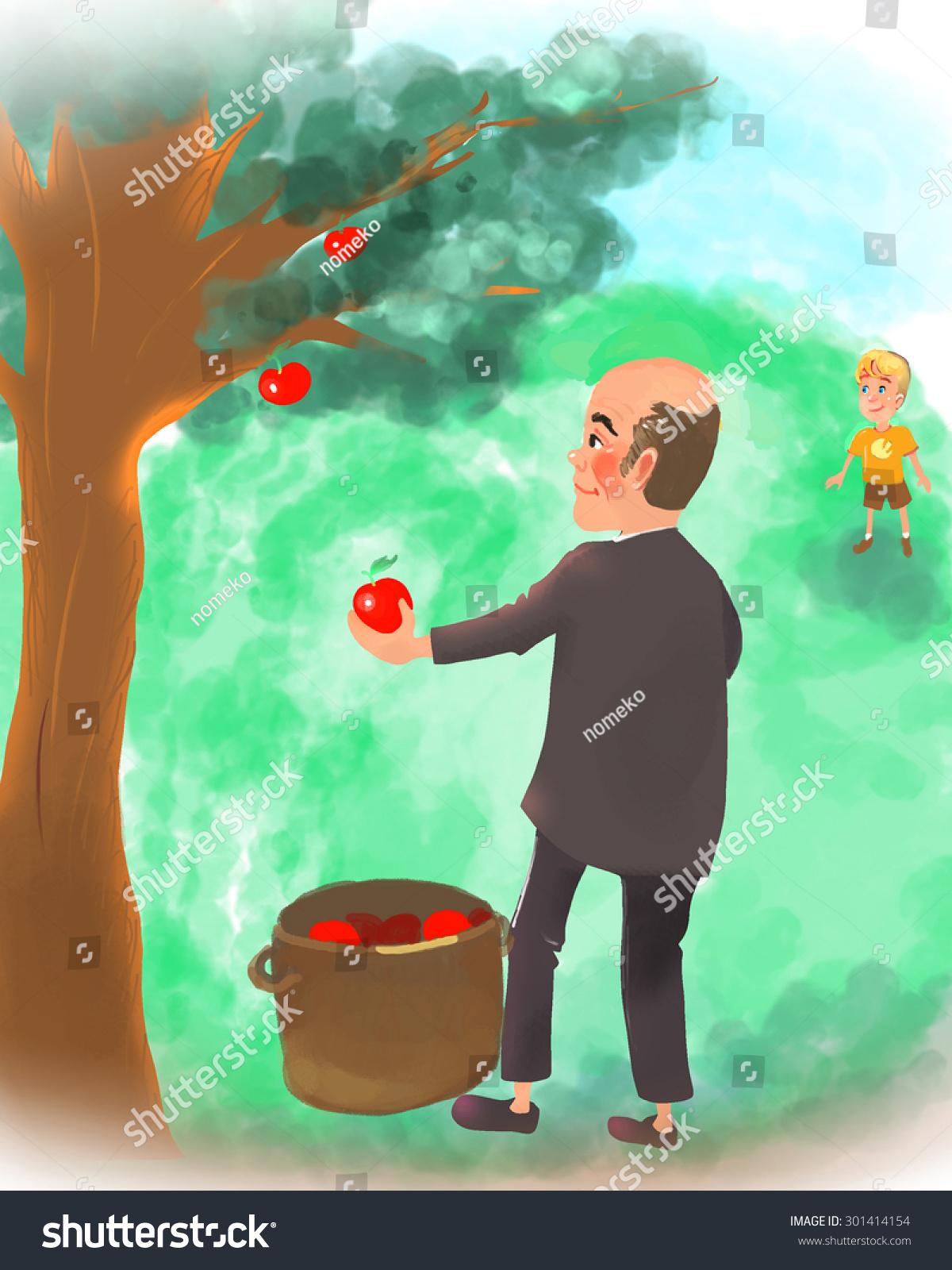 苹果树-人物,公园/户外-海洛创意(hellorf)-中国独家