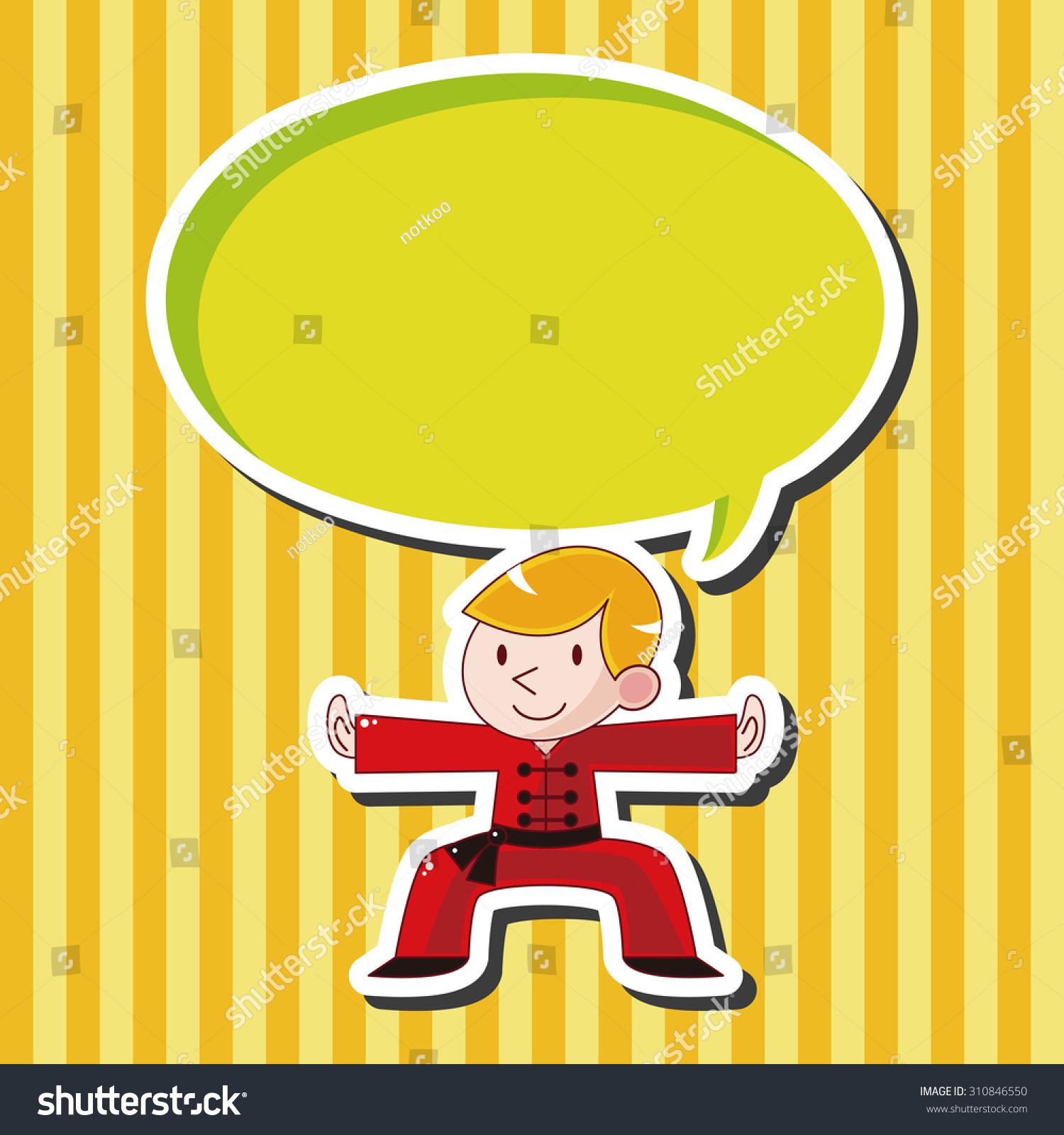 功夫,卡通演讲图标-物体-海洛创意(hellorf)-中国图片