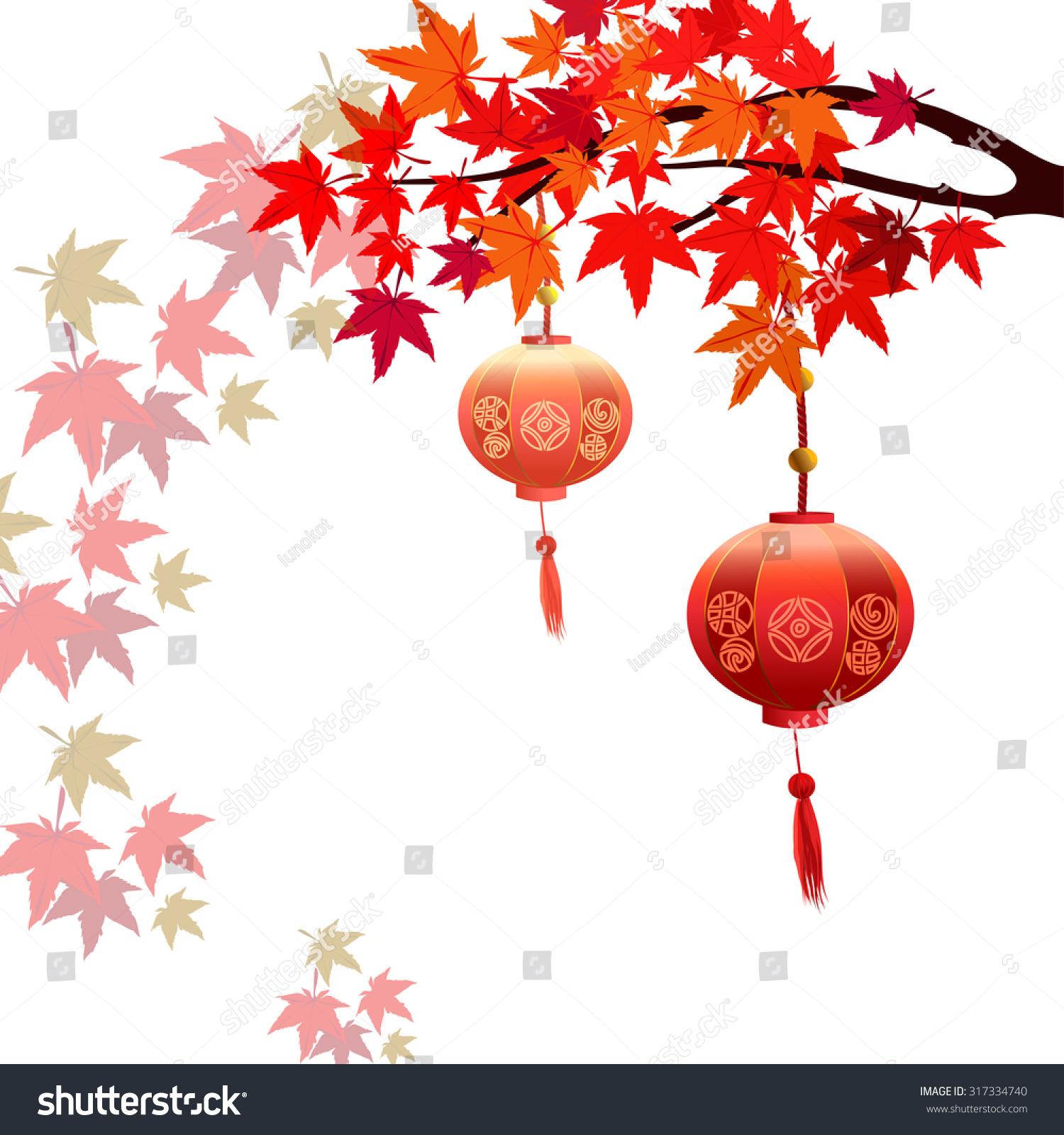 秋天的枫树的叶子是落后了.