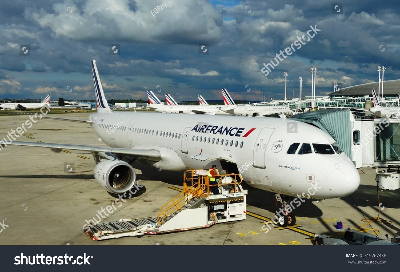 法国巴黎,2015年9月1日——法国航空公司(af)的飞机