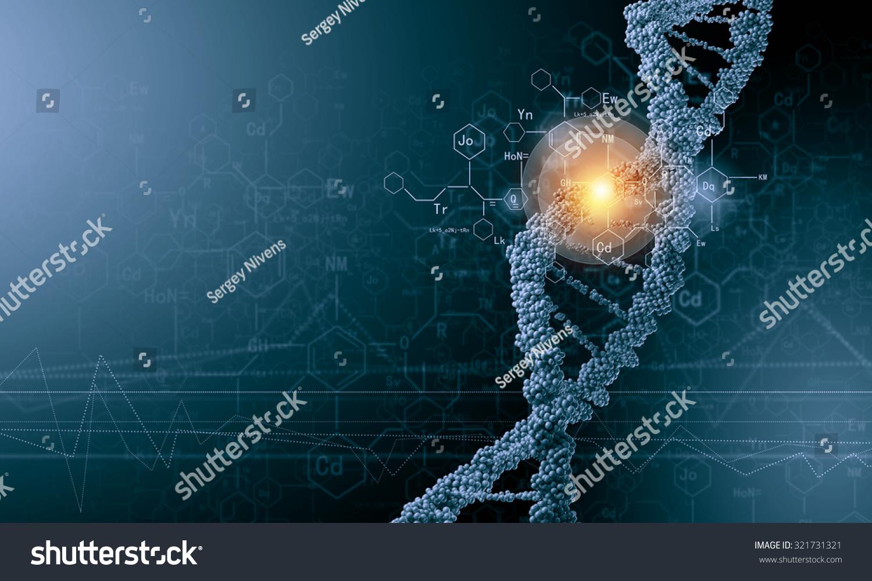 生物化学背景概念与高科技dna分子-医疗保健,符号/-()