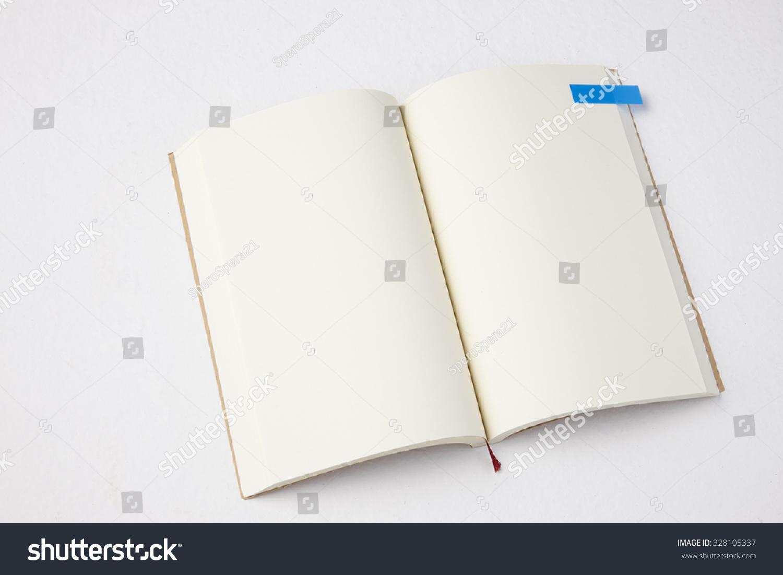 打开书的空白页面和书签-背景/素材,物体-海洛创意()