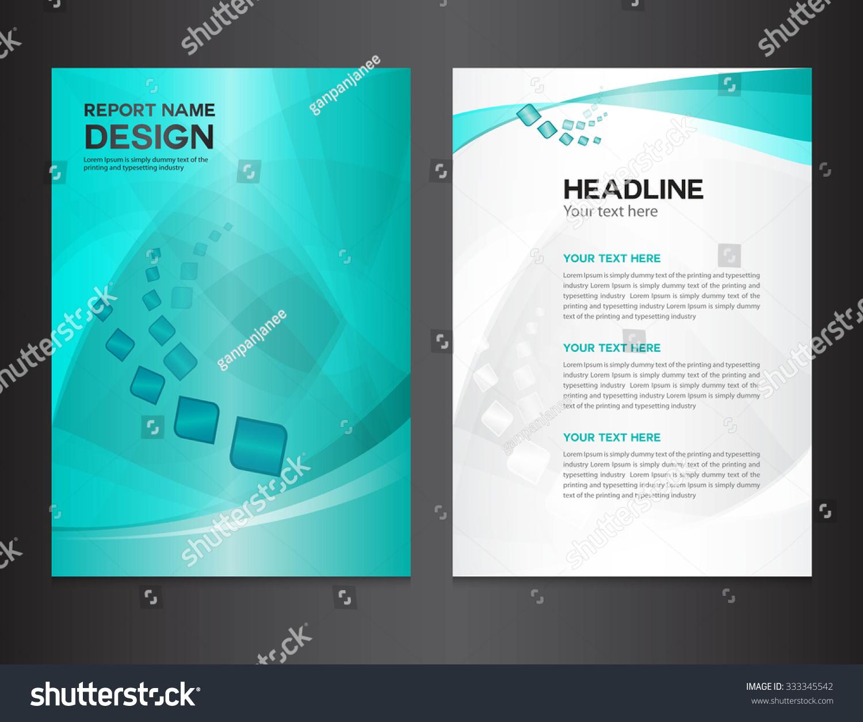 淡蓝色封面年度报告设计矢量图-背景/素材,科技-海洛
