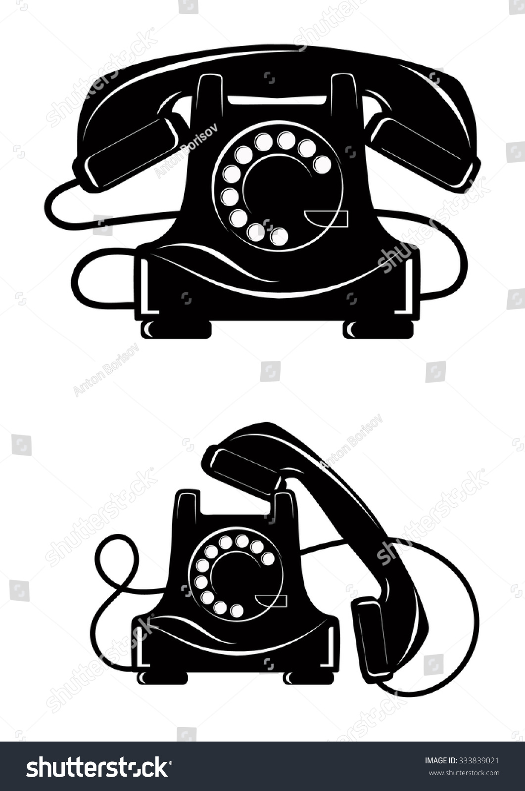 老电话机-科技,复古风格-海洛创意(hellorf)-中国独家