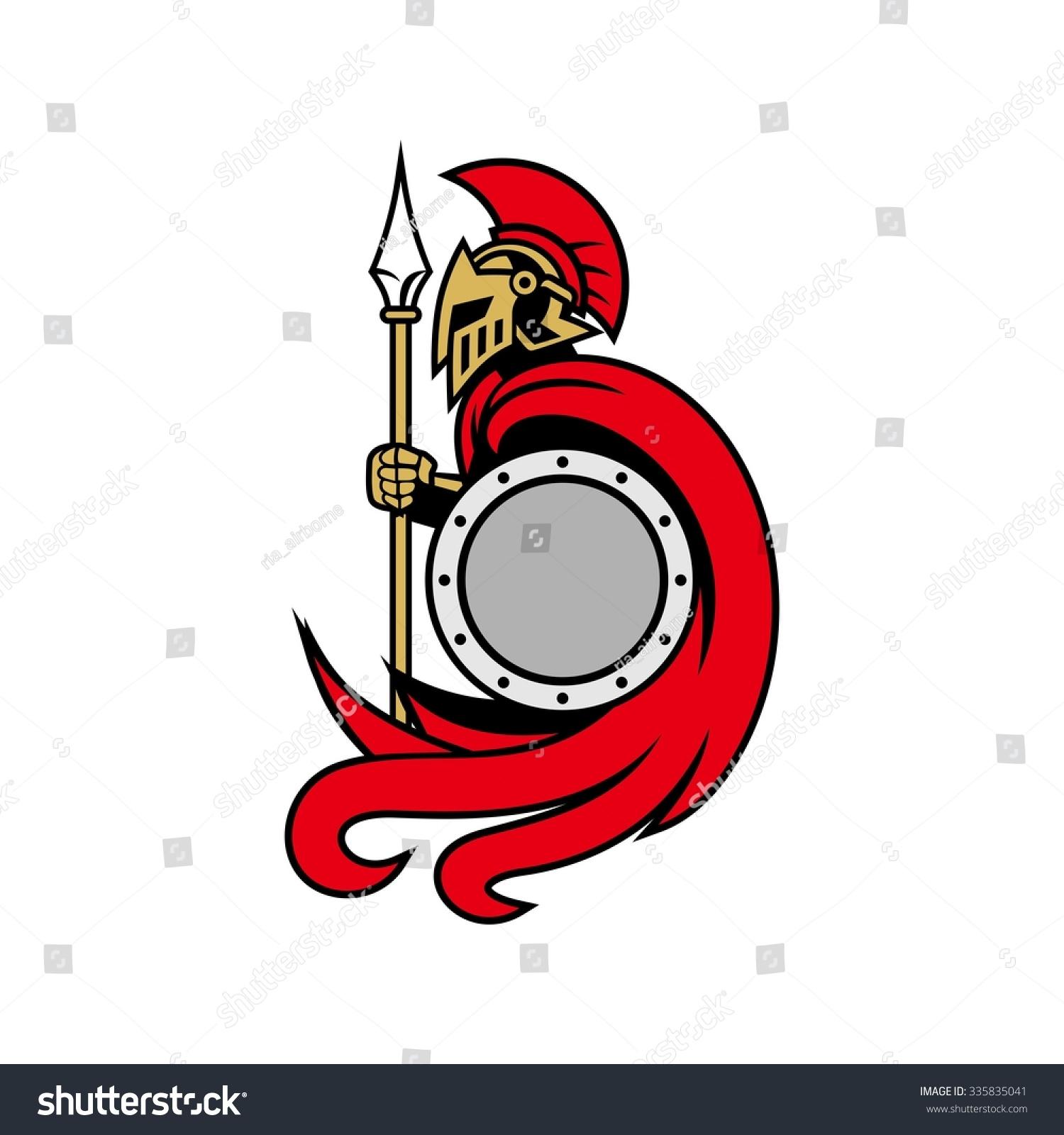 中世纪的骑士盔甲和盾牌,红色和银色的,大胆的和强大图片