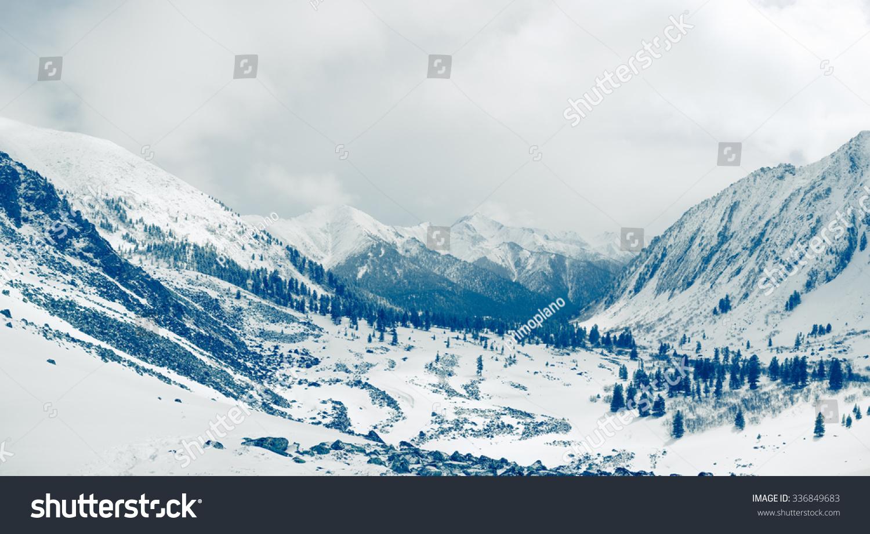 美丽的山的风景.