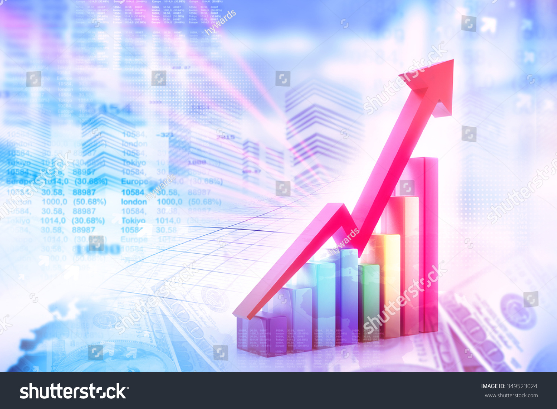 经济股市图图片