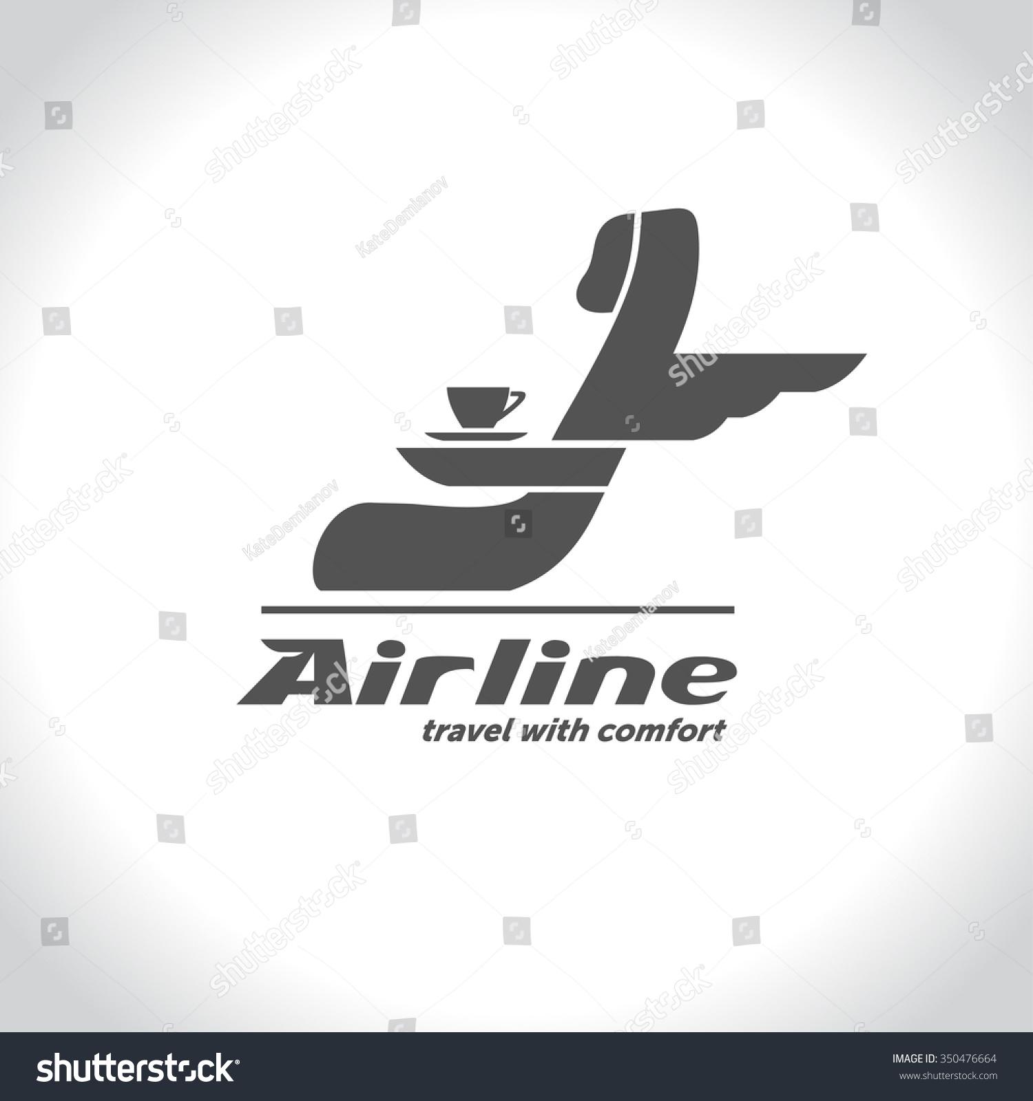 矢量航空公司标志的图片乘客座位和一