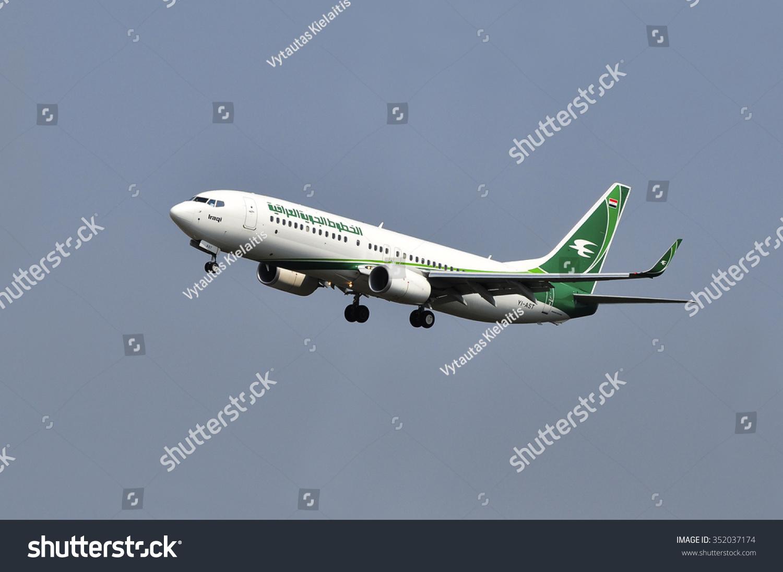 法兰克福,germany-aug10:伊拉克航空公司的飞机在
