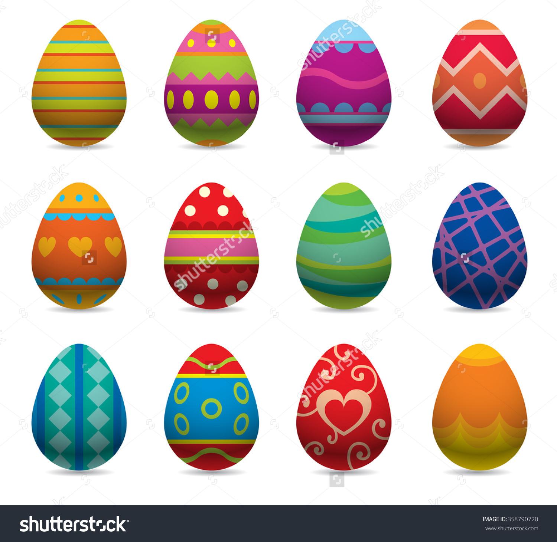 复活节彩蛋矢量平面风格图标,孤立在白色背景.复活节.