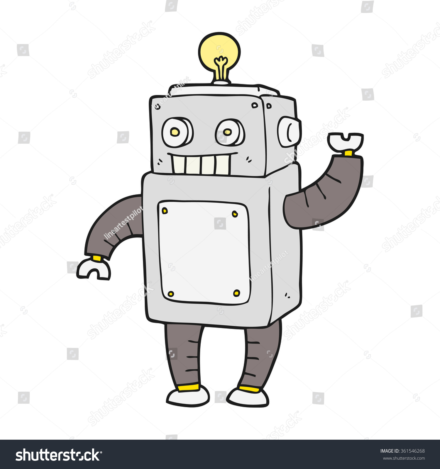 手绘卡通机器人-物体,科技-海洛创意(hellorf)-中国