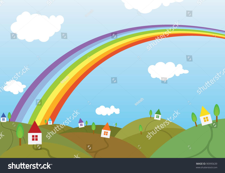 彩虹人物风景微信头像