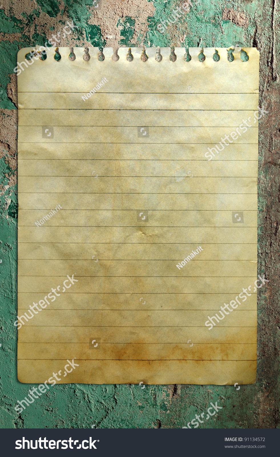 旧的笔记本纸墙背景-背景/素材,复古风格-海洛创意()