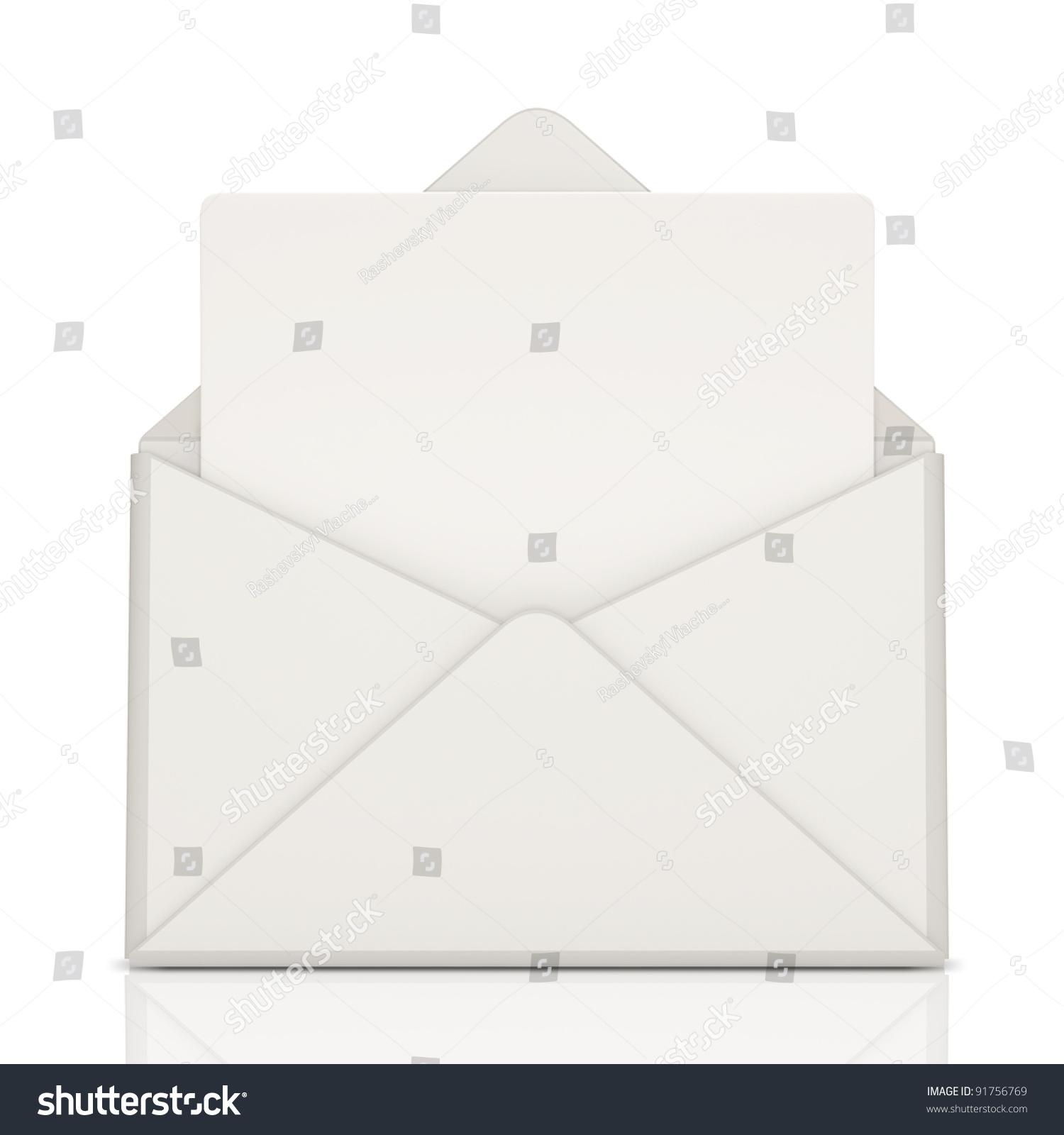 空白的信在白色背景上-背景/素材