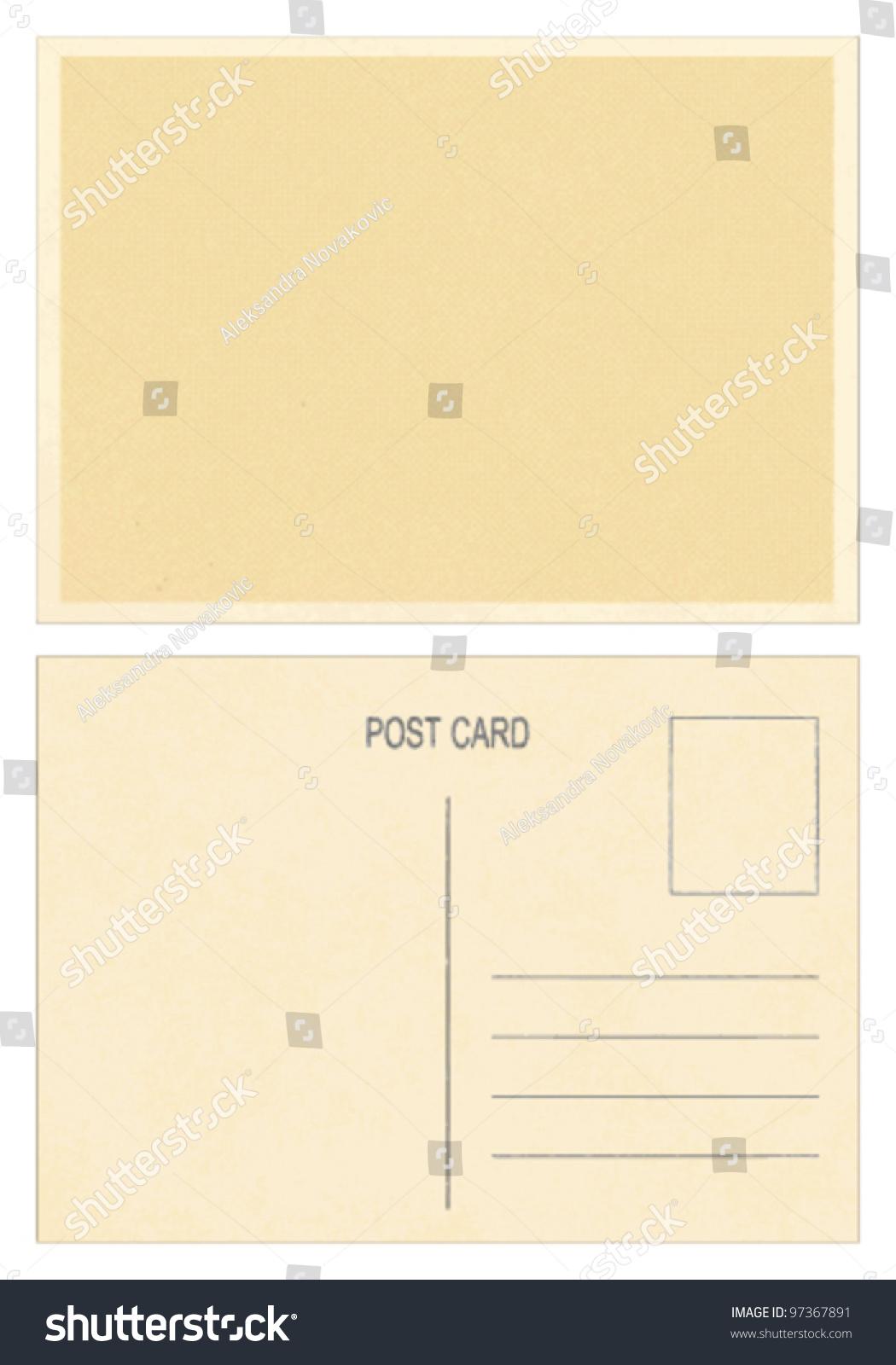 空白明信片正面和背面空白的明信片.-背景/素材,复古
